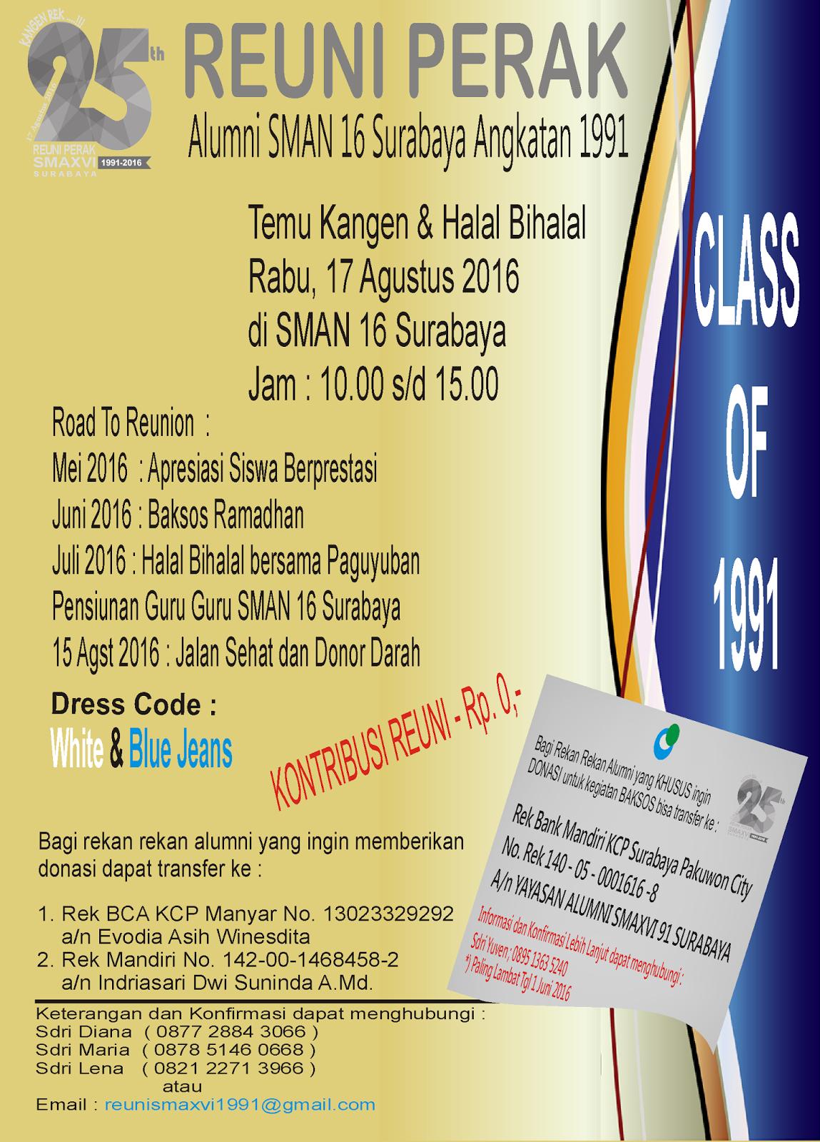 Alumni Smaxvi Surabaya 1991 Kangen Rek