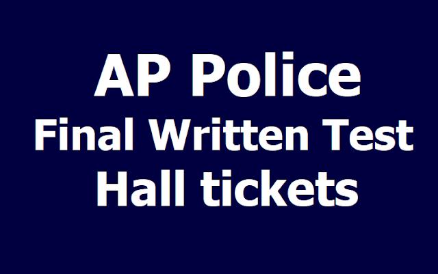 AP Police SI Final Written Test Hall tickets