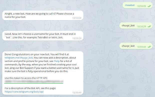 создание telegram бота