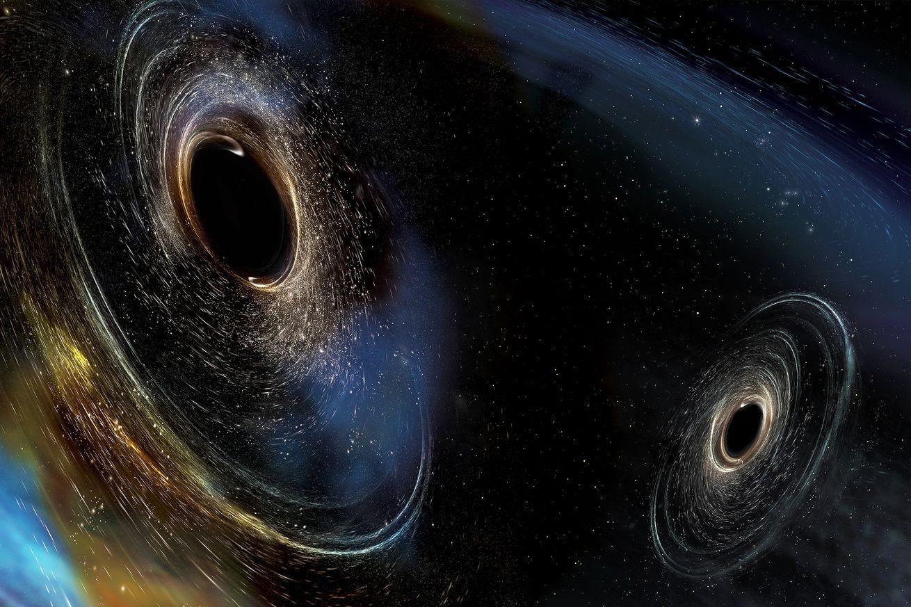 Imagem de supostos buracos negros