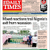NAIJA NEWSPAPERS: TODAY'S THE DAILY TIMES NEWSPAPER HEADLINES [6TH SEPTEMBER, 2017].