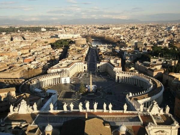 Vaticano desde la cúpula de la Basílica de San Pedro
