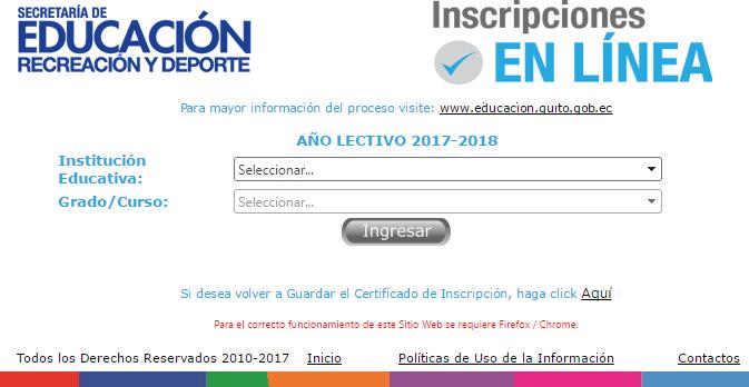 Inscripciones colegio municipal Sebastian De Benalcazar y demás Colegios y Escuelas Municipales de Quito
