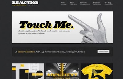 Re/action wp responsive wp theme