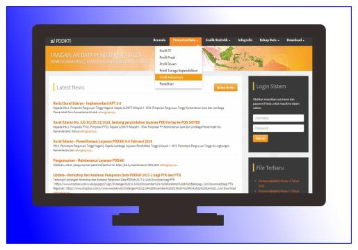 Cara Cek Profile Mahasiswa pada situs Forlap Dikti