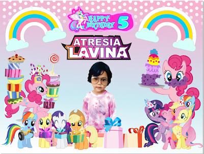 download vector banner ulang tahun tema little pony terbaru