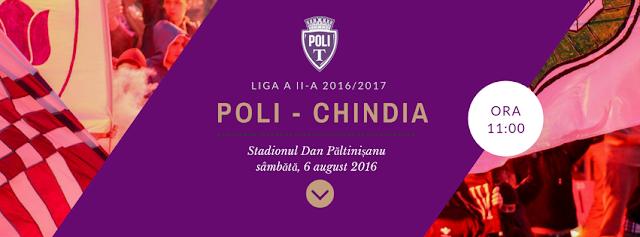 Politehnica Timișoara - Chindia Târgoviște - 06 august 2016