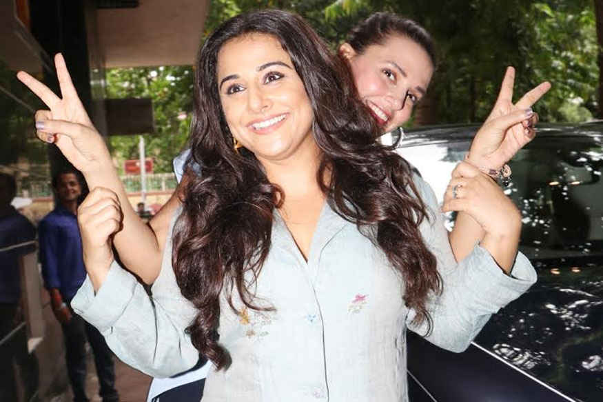 Vidya Balan and Neha Dhupia Before Recording of their episode for NoFilterNeha season 2