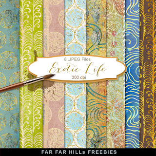 New Freebies Kit of Backgrounds - Exotic Life