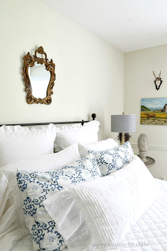 Savvy Southern Style White And Bright Summer Guest Bedroom