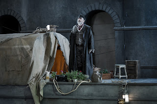 Stephen Gadd as Michele in Il tabarro - Opera Holland Park -  Photo Robert Workman