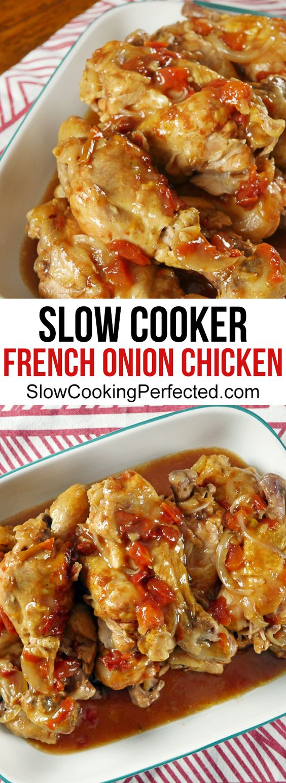 Delicious Slow Cooker French Onion Chicken