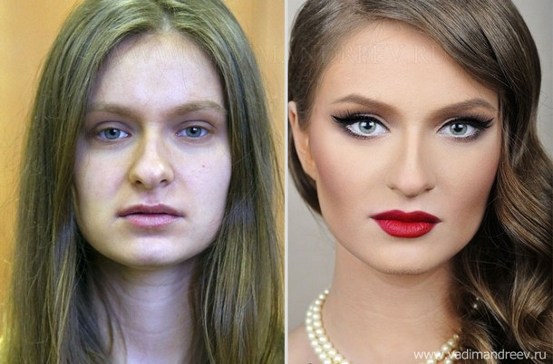 before and after makeup photos 1