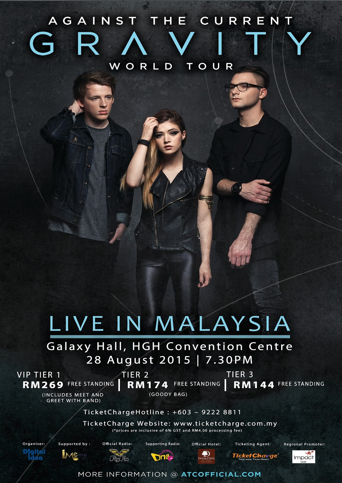 "Against The Current ""Gravity Live in Malaysia 2015"