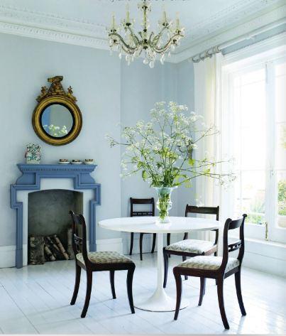 Light Blue Painted Rooms Elegant Interiors Decor Accents