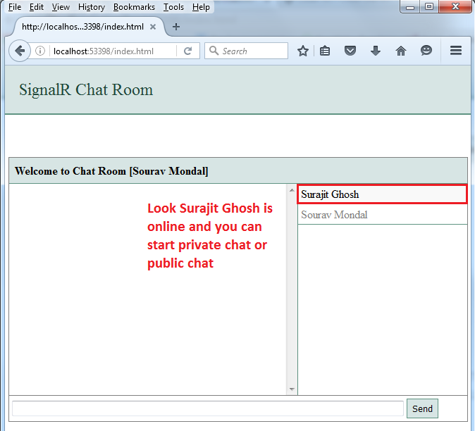 start a chat room