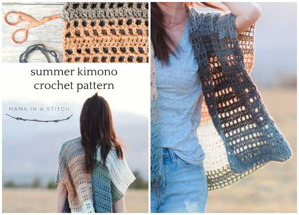 poncho túnica crochet, kimonos tejidos a crochet, patrones para crochet