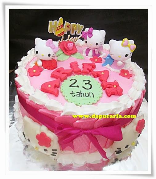 Dapur Arfa Hello Kitty Cake