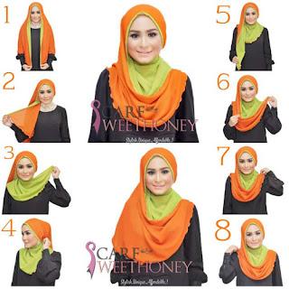 Permalink to Tampil Beda dengan Tutorial Hijab Dua Warna