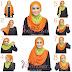Tampil Beda dengan Tutorial Hijab Dua Warna