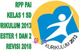 RPP PAI Kelas 1 SD Kurikulum 2013 Revisi 2018 Semester 1 dan 2