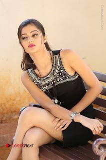 Actress Poojitha Pallavi Naidu Stills in Black Short Dress at Inkenti Nuvve Cheppu Movie Platinum Disc Function  0186.JPG
