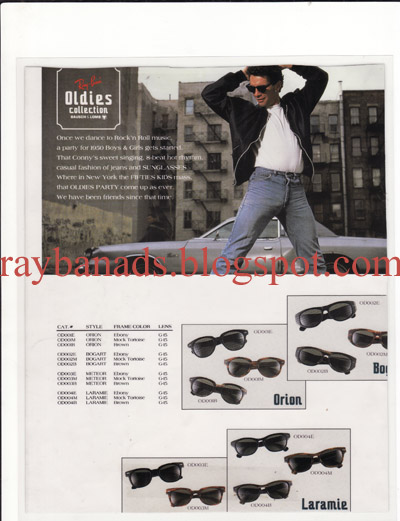 aa6c0b6cc4a73b Ray ban Ads and Catalogue  Ray Ban Oldies Collections