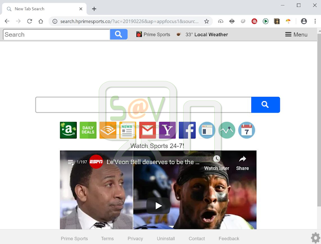 Search.hprimesports.co (Hijacker)