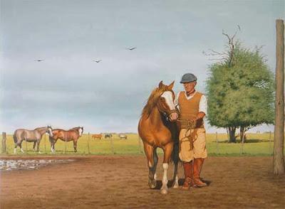 gaucho y caballo