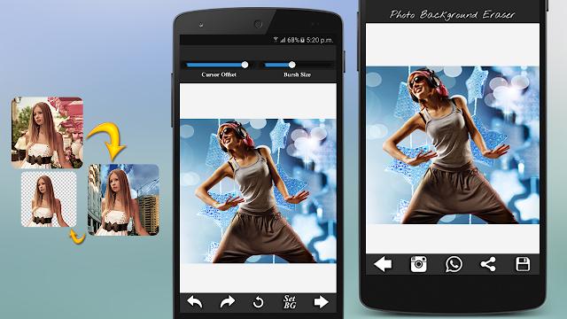 إزالة خلفيات الصور بإستعمال الهاتف بسهولة مجانا