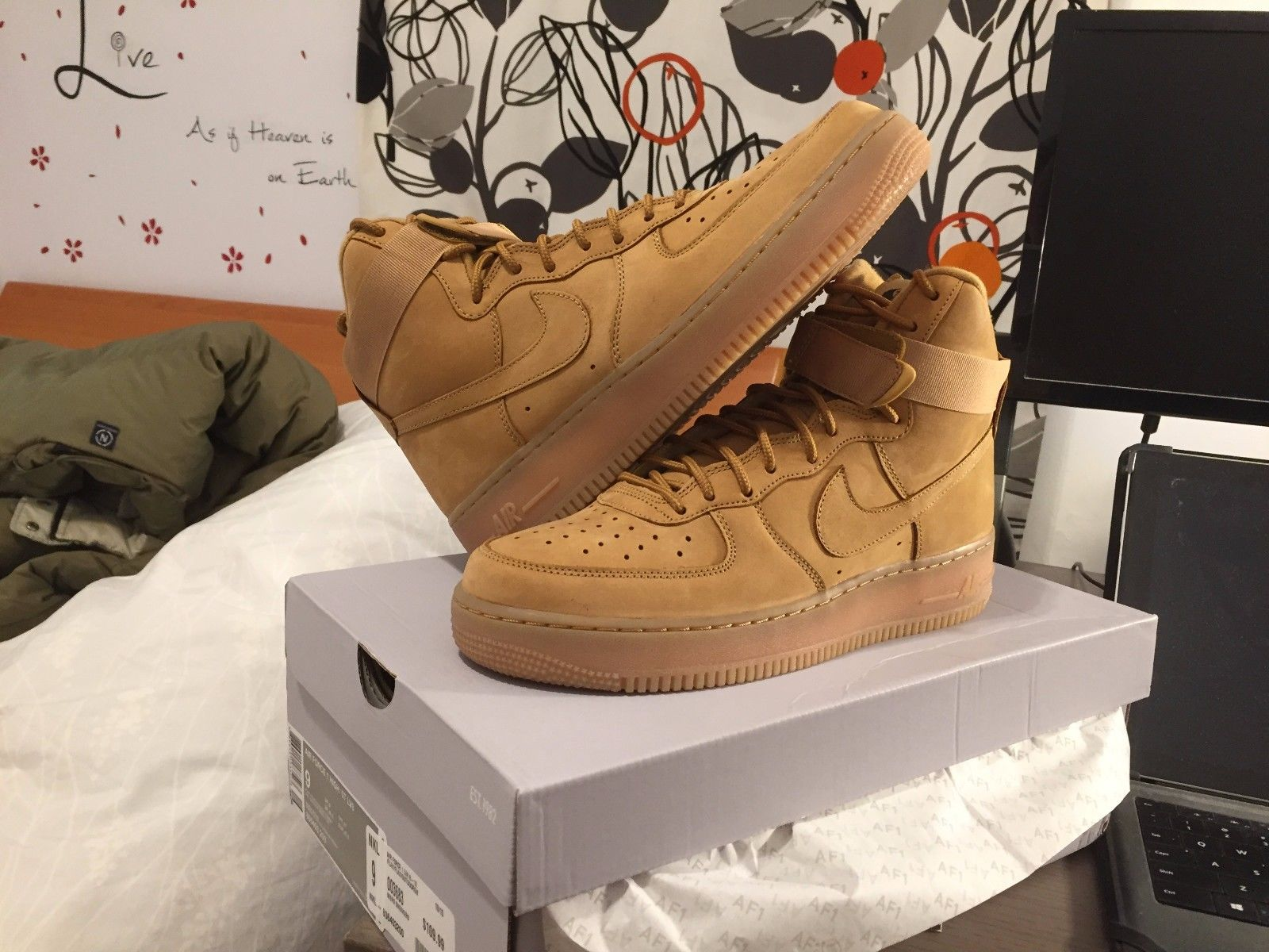 huge discount 9f5fd f6955 806403-200 Nike Air Force 1 High  07 LV8 Flax Wheat Collection