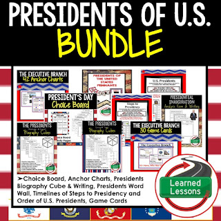 President of the United States Bundle , Presidents Day Resources