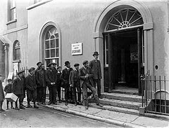 Form and orderly Queue to the Left - Courtesy National Library of Ireland