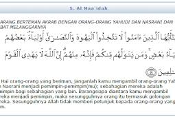 Surat Al-Maidah ayat 51 dan Logika Manusia