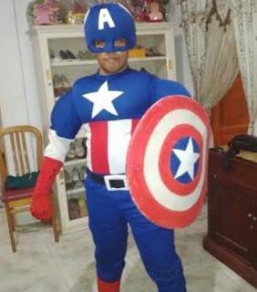 jual kostum anak superhero captain america
