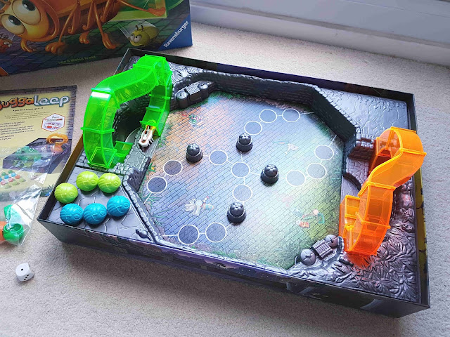 What to do with Hexbug, Ravensburger Buggaloop board game, fun family game this Christmas