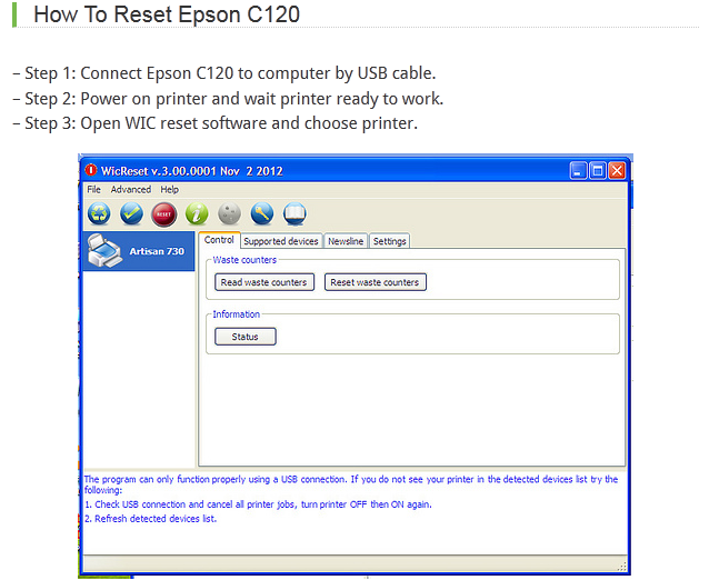 Reset Epson CC-570L Download
