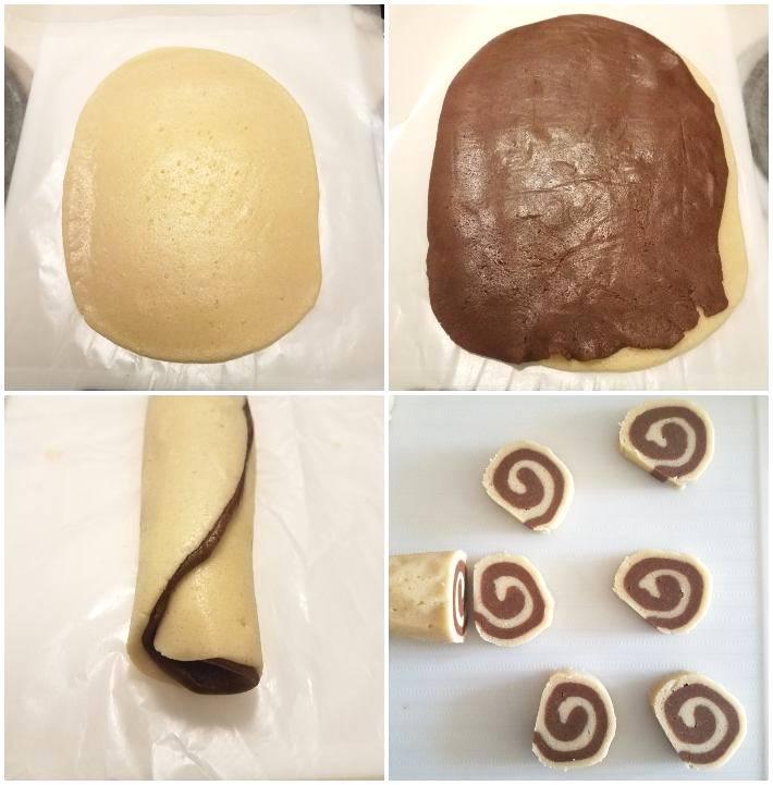 Galletas espiral de chocolate y vainilla, cómo se hace