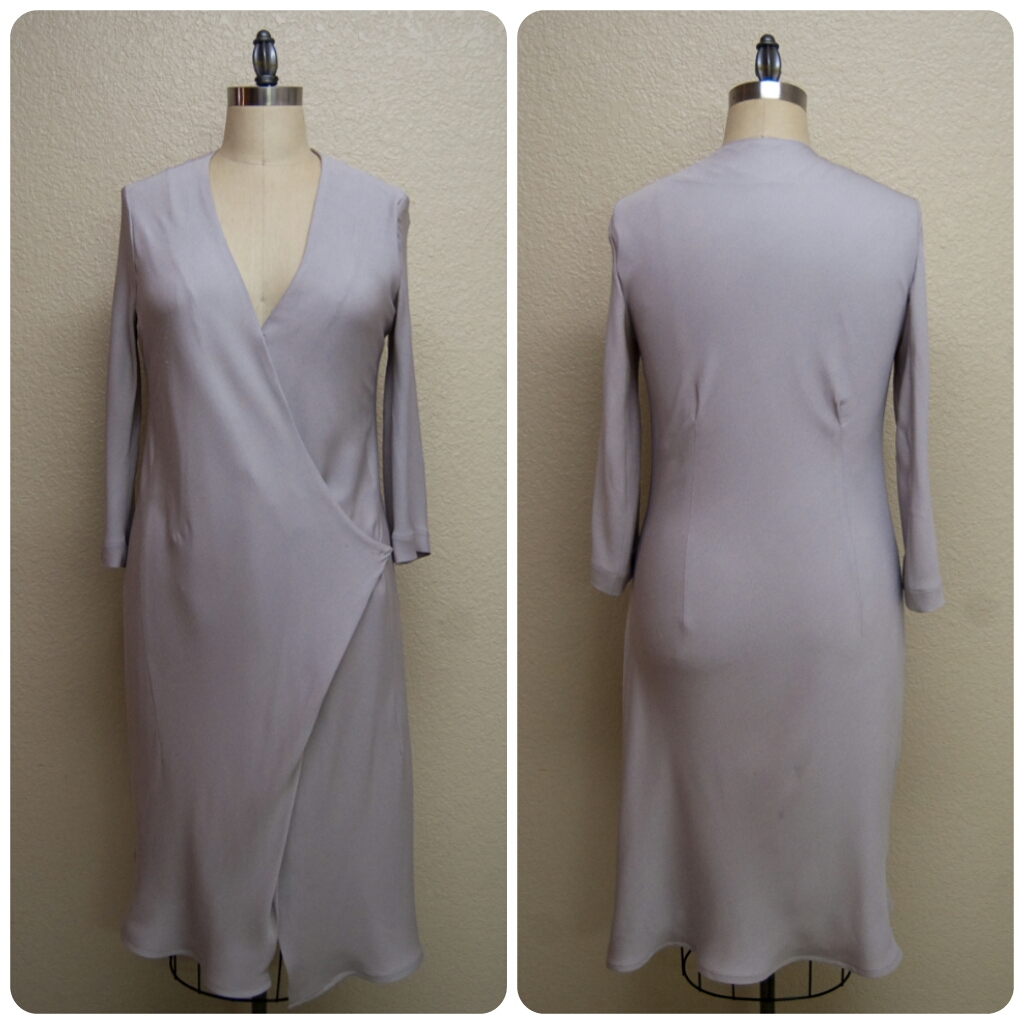 Review: Vogue 1384 | Shades of Grey Silk Georgette Dress! - Erica B.'s DIY Style!