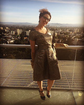 Gail Carriger's Bay Area Book Festival Outfits ~ Gold Dress meets Red, Black, and Leopard