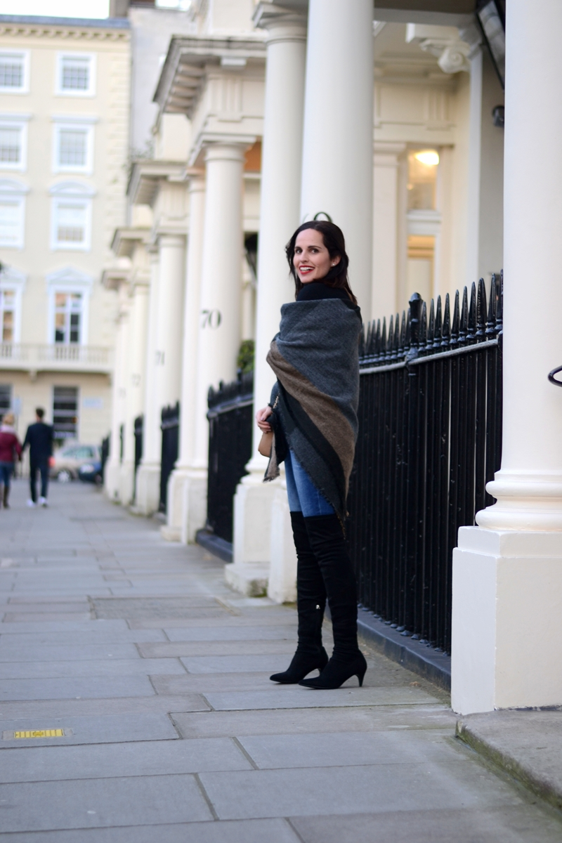 zara-scarf-as-a-poncho-with-black-boots