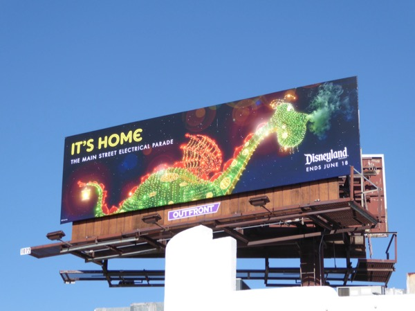 Disneyland Electrical Parade Its Home dragon billboard