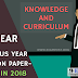 Previous Year Question Paper/Model Question Paper-B.Ed 2nd Year (Knowledge and curriculum) Session( 2015-17)