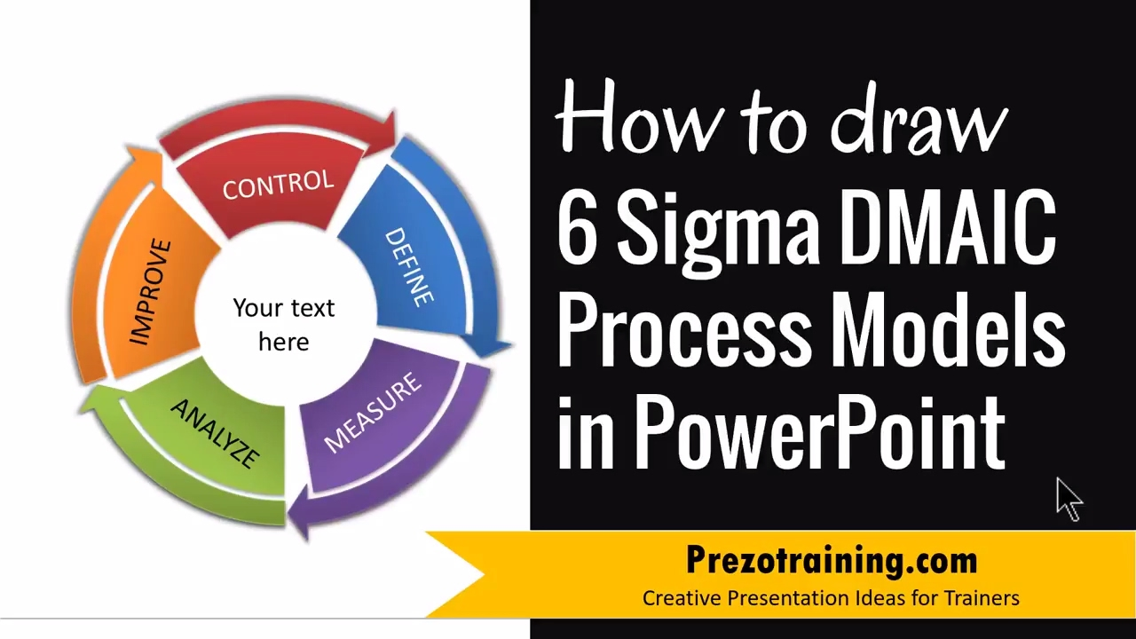 How to Draw Six Sigma DMAIC Process Models in PowerPoint