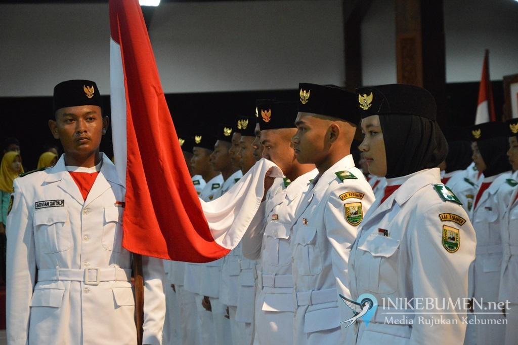 47 Pasukan Pengibar Bendera Kabupaten Kebumen Dikukuhkan