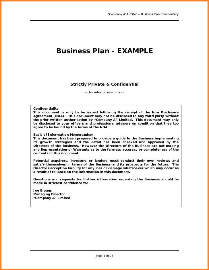 Resume Business Template: Easy Business Plan Template Free