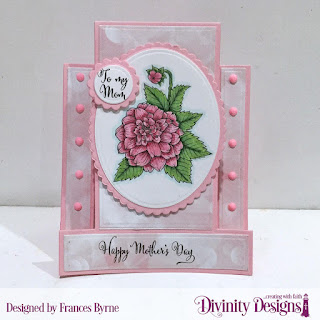 Divinity Designs Stamp Set: Grandmother's Heart, Custom Dies: Center Step A2 Card, Center Step A2 Layers, Ovals, Scalloped Ovals, Circles, Scalloped Circles, Paper Collection: Spring Flowers 2019