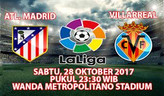 Prediksi Atletico Madrid vs Villarreal 28 Oktober 2017