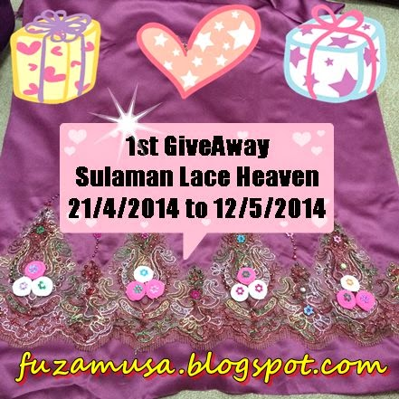 1st Giveaway Sulaman Lace Heaven
