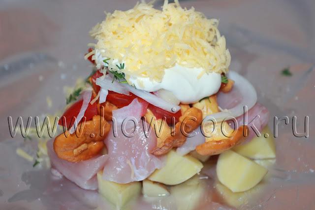 рецепт лисичек с мясом и овощами с пошаговыми фото